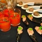 Thai Watermelon Soup, Salmon Tartare with Wasabi Eggs