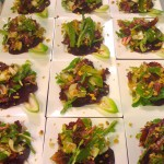 Beet Carpaccio, Mixed Green Salad and Andive, Blue Cheese and Walnuts