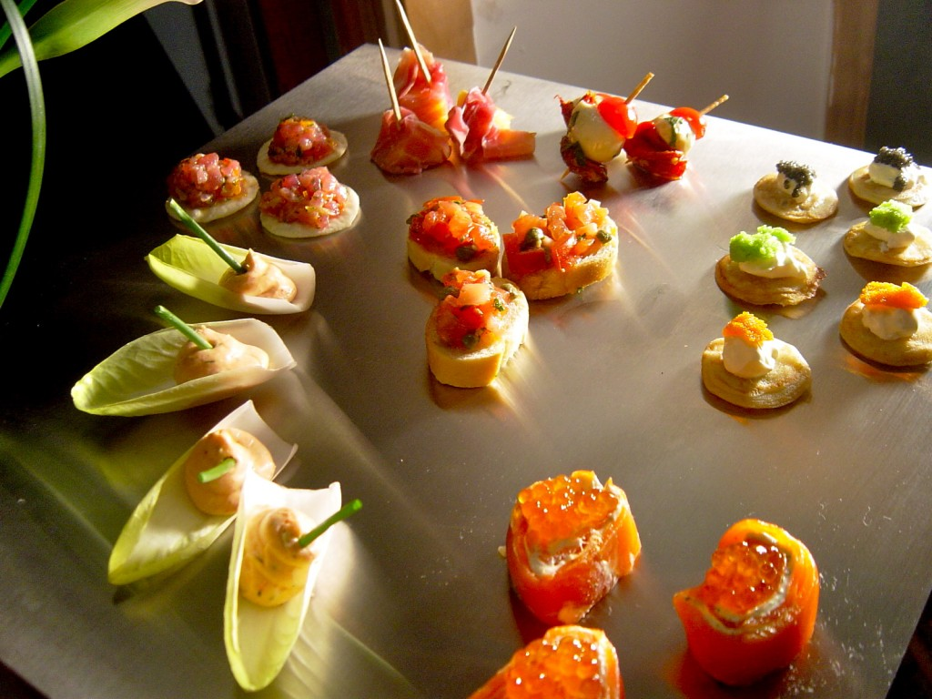 Assorted hors-d'oeuvres