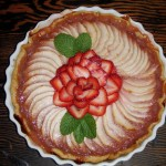 Apple rhubarb tart